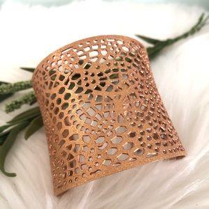 Rose Gold colored Wide Cuff fashion Bracelet